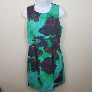 J. Crew Factory Abstract Floral Dress Size 8